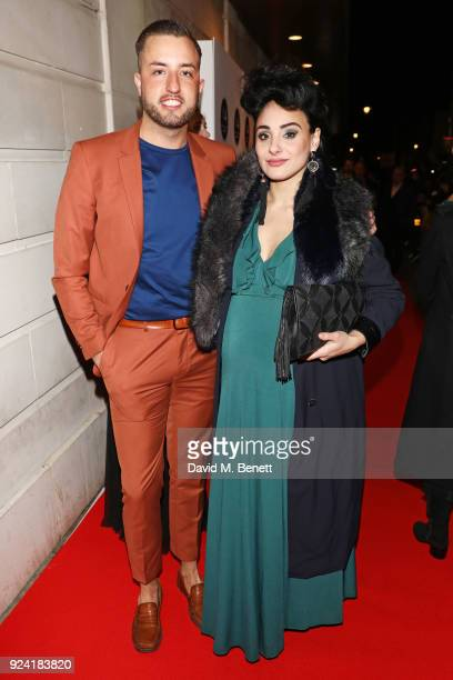 Paul TaylorMills and Victoria HamiltonBarritt attend the 18th Annual WhatsOnStage Awards at the Prince Of Wales Theatre on February 25 2018 in London...