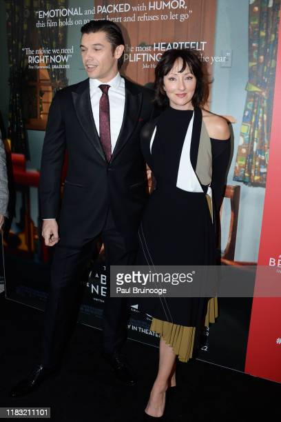 Paul Telfer and Carmen Cusack attend New York Special Screening Of A Beautiful Day In The Neighborhood at Henry R Luce Auditorium at Brookfield Place...