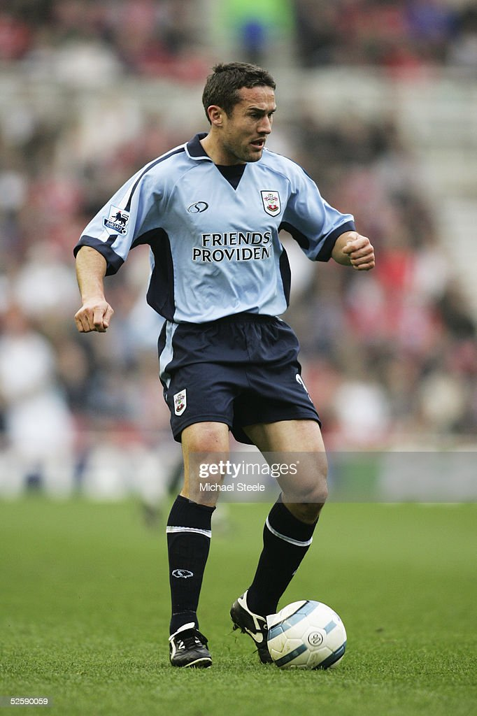 Paul Telfer of Southampton in action during the Barclays Premiership match between Middlesbrough and Southampton at the Riverside Stadium on March 20, 2005 in Middlesbrough, England