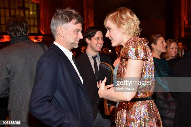 Paul Thomas Anderson and Greta Gerwig attends the National Board of Review Annual Awards Gala at Cipriani 42nd Street on January 9 2018 in New York...