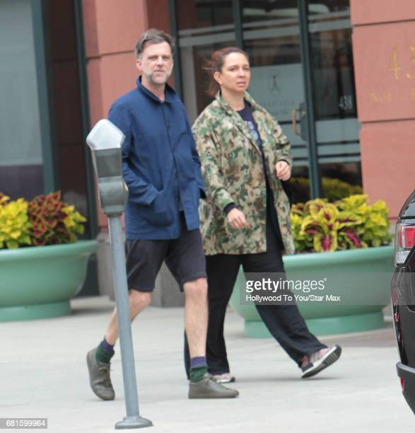 Paul Thomas Anderson and Maya Rudolph are seen on May 9 2017 in Los Angeles CA