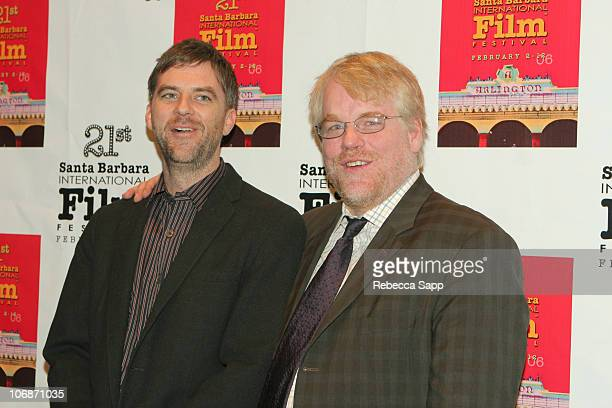 Paul Thomas Anderson and Philip Seymour Hoffman during 21st Annual Santa Barbara International Film Festival The Riviera Award Honoring Phillip...