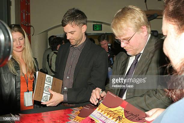 Paul Thomas Anderson and Philip Seymour Hoffman during 21st Annual Santa Barbara International Film Festival The Riviera Award Honoring Phillip...