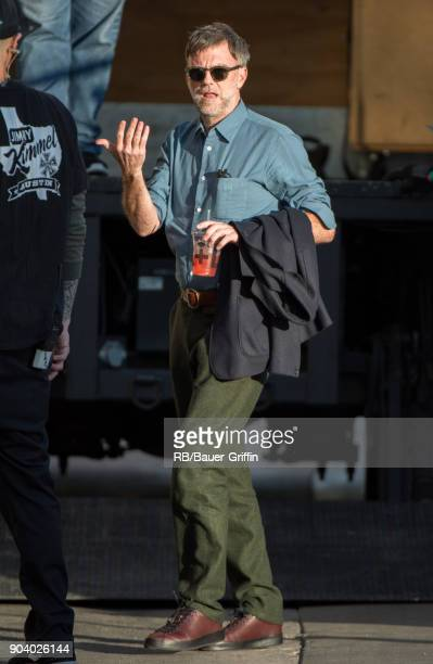Paul Thomas Anderson is seen at 'Jimmy Kimmel Live' on January 11 2018 in Los Angeles California