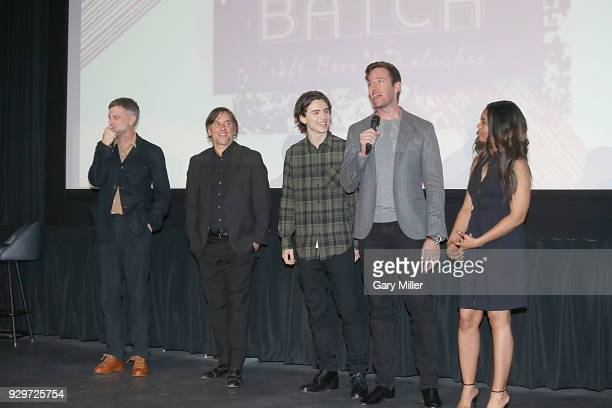 Paul Thomas Anderson Richard Linklater Timothee Chalamet Armie Hammer and Regina Hall attend the 2018 Texas Film Awards at AFS Cinema on March 8 2018...