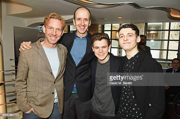 Paul Thornley Jack Thorne Sam Clemmett and Anthony Boyle of 'Harry Potter And The Cursed Child' attend The Critics' Circle Theatre Awards at The...