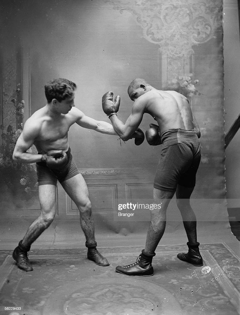 Paul Til and Dixie Kid (on the right), boxers. France, November, 1911. BRA