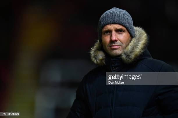 Paul Tisdale manager of Exeter City prior to the Emirates FA Cup Second Round Replay between Exeter City and Forest Green at St James Park on...