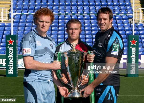 Paul Tito Will Skinner and Dean Schofield during the Heineken Cup Launch at the Madejski Stadium Reading