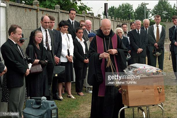 Paul Touvier's funeral In Paris France On July 25 1996 Monique and Chantal Touvier