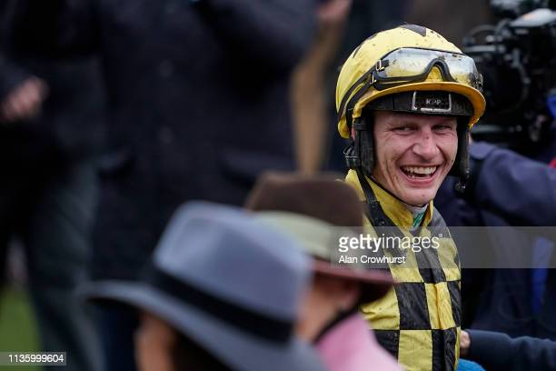 Paul Townend after riding Al Boum Photo to win The Magners Cheltenham Gold Cup Steeple Chase on Gold Cup Day at Cheltenham Racecourse on March 15...