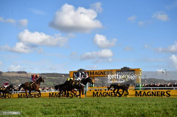 Paul Townend riding Al Boum Photo wins the Magners Cheltenham Gold Cup Chase at Cheltenham Racecourse on March 13, 2020 in Cheltenham, England.