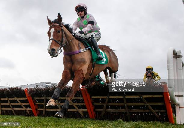 Paul Townend riding Faugheen in action at Leopardstown racecourse on February 3 2018 in Dublin Ireland