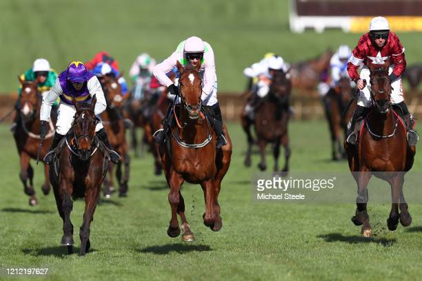 Paul Townend riding Monkfish on their way to winning the Albert Bartlett Novices' Hurdle at Cheltenham Racecourse on March 13 2020 in Cheltenham...