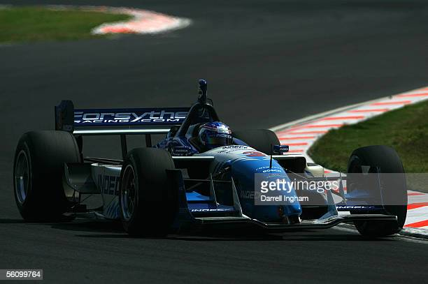Paul Tracy driving the Indeck Forsythe Racing Lola Ford Cosworth during practice for the ChampCar World Series Gran Premio TelmexTecate on November 5...