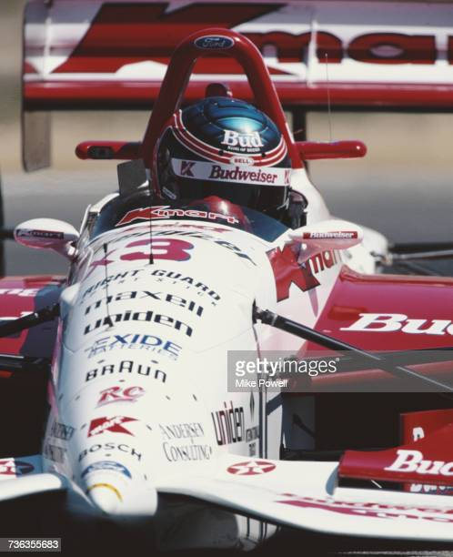 Paul Tracy of Canada drives the Newman/Haas Racing Lola T95/00 Ford XB during practice for the Championship Auto Racing Teams 1995 PPG Indy Car World...