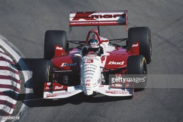 Paul Tracy of Canada drives the Newman/Haas Racing Lola T95/00 Ford XB during the Championship Auto Racing Teams 1995 PPG Indy Car World Series...
