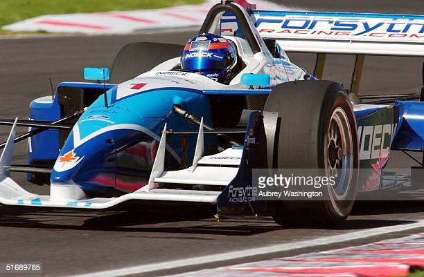 Paul Tracy of Canada races during qualifying at the CART series GP at the Autodromo Hermanos Rodriguez in Mexico City Mexico
