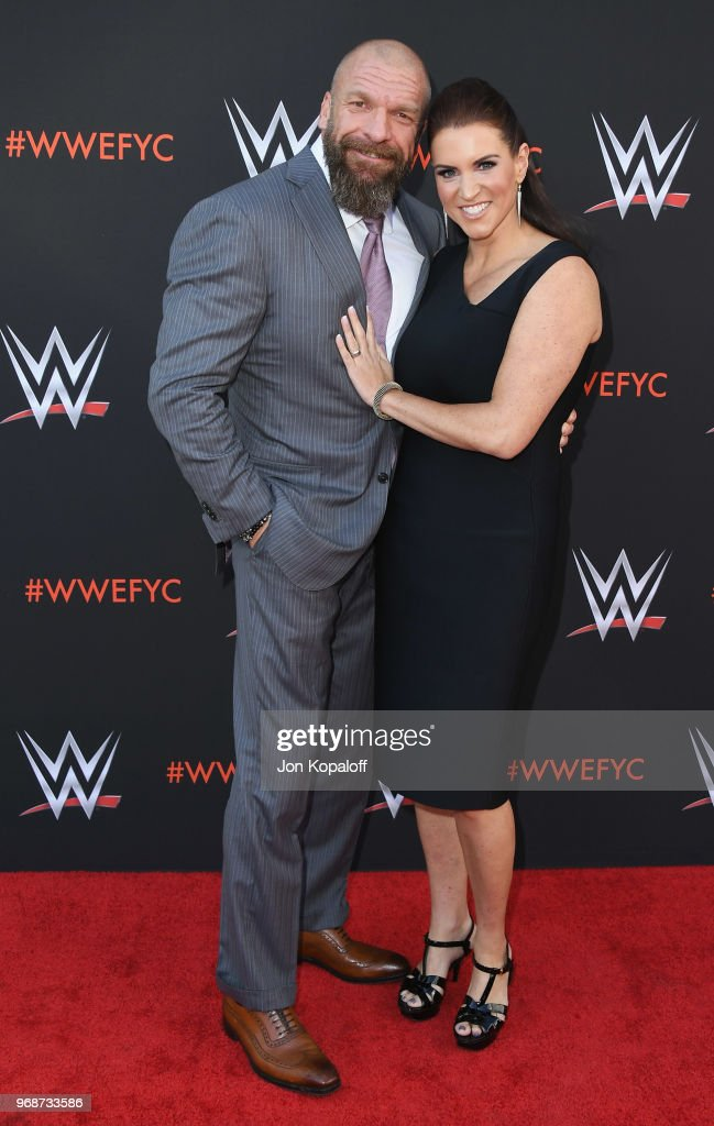 Paul 'Triple H' Levesque and Stephanie McMahon attend WWE's First-Ever Emmy 'For Your Consideration' Event at Saban Media Center on June 6, 2018 in North Hollywood, California.