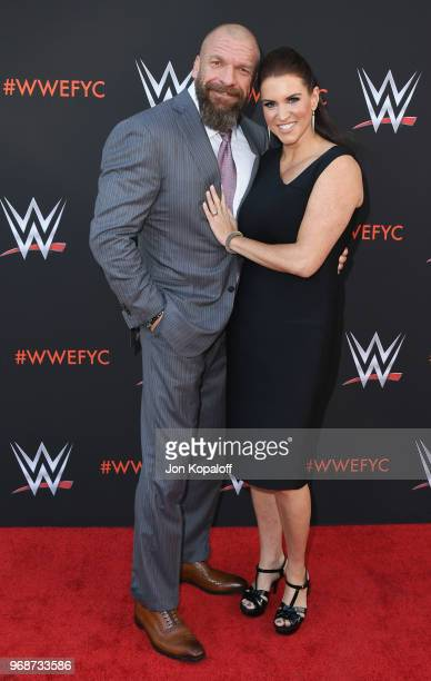 Paul Triple H Levesque and Stephanie McMahon attend WWE's FirstEver Emmy For Your Consideration Event at Saban Media Center on June 6 2018 in North...