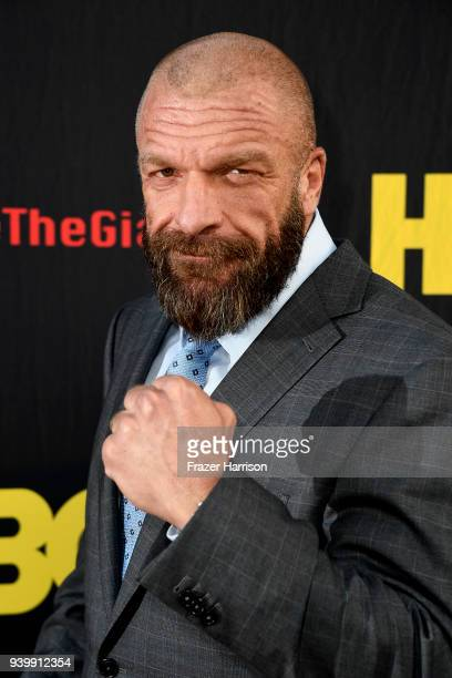 Paul 'Triple H' Levesque attends the Premiere Of HBO's 'Andre The Giant' at The Cinerama Dome on March 29 2018 in Los Angeles California
