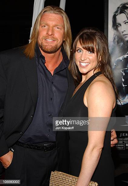 Paul 'TripleH' Michael Levesque and wife Stephanie McMahon