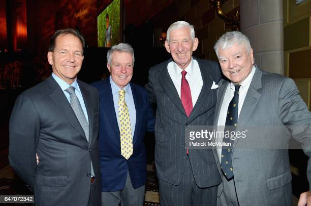 Paul Tudor Jones Dan Lufkin Nathaniel Reed and Pete McCloskey attend the National Audubon Society Gala on March 1 2017 at Gotham Hall in New York City