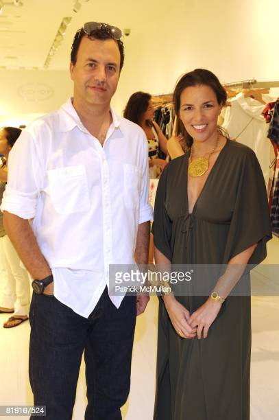 Paul Tumpowsky and Ann Caruso attend SCOOP Beach Hosts JOANNE SALT'S New Collection JOSA TULUM at Scoop Beach on July 24th 2010 in East Hampton New...