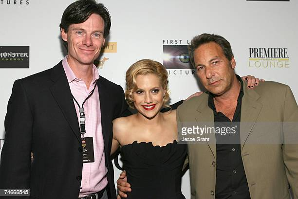 Paul Turcotte, Brittany Murphy and Henry Winterstern at the Premiere Lounge in Los Angeles, California
