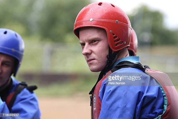 Paul Turnbull of Northampton Town looks on during a training session at Nene Whitwater Centre on July 7 2011 in Northampton England