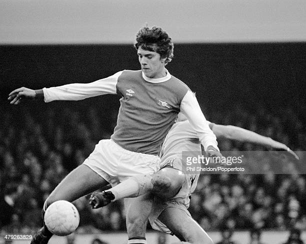 Paul Vaessen in action for Arsenal during their First Division match against Everton at Highbury Stadium in London 17th November 1979 Arsenal won 20