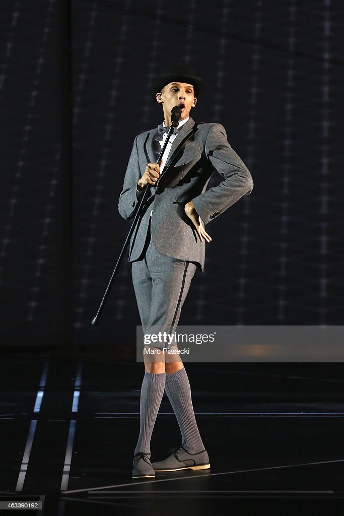 Paul Van Haver aka Stromae performs during the 30th 'Victoires de la Musique' French Music Awards Ceremony at le Zenith on February 13, 2015 in Paris, France.