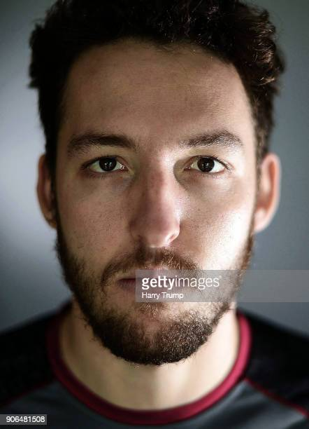 Paul Van Meekeren of Somerset poses for a portrait during Somerset CCC Media Access at The County Ground on January 12 2018 in Taunton England