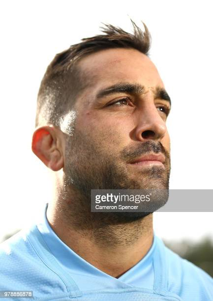 Paul Vaughan of the Blues poses for a portrait during a New South Wales Blues State of Origin training session at Coogee Oval on June 20 2018 in...