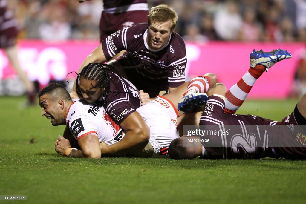 AUS: NRL Rd 6 - Dragons v Sea Eagles