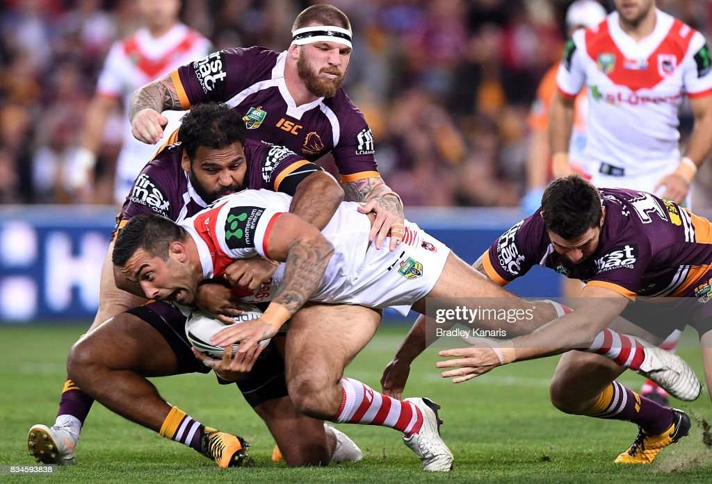 NRL Rd 24 - Broncos v Dragons : News Photo