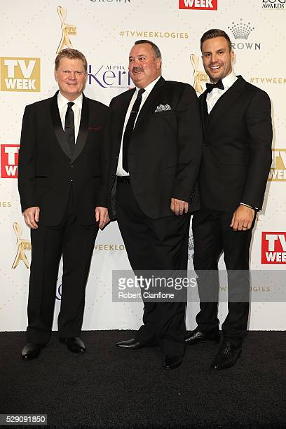 Paul Vautin Darryl Brohman and Beau Ryan arrive at the 58th Annual Logie Awards at Crown Palladium on May 8 2016 in Melbourne Australia