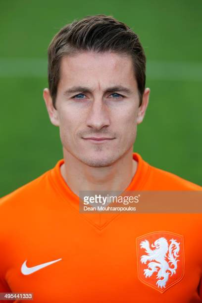 Paul Verhaegh of the Netherlands poses prior to the Netherlands training session held at the AFAS Stadion on June 3 2014 in Alkmaar Netherlands