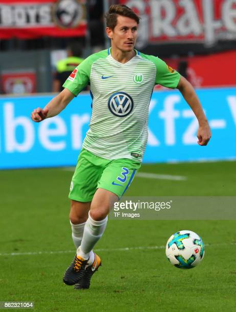 Paul Verhaegh of Wolfsburg controls the ball during the Bundesliga match between Bayer 04 Leverkusen and VfL Wolfsburg at BayArena on October 15 2017...