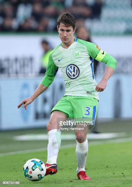 Paul Verhaegh of Wolfsburg controls the ball during the Bundesliga match between VfL Wolfsburg and Eintracht Frankfurt at Volkswagen Arena on January...