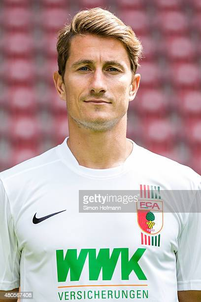 Paul Verhaegh poses during the FC Augsburg Team Presentation at WWKArena on July 8 2015 in Augsburg Germany