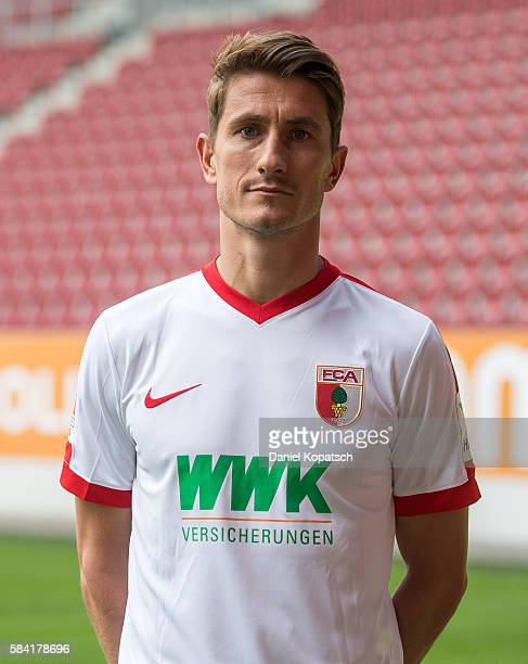 Paul Verhaegh poses during the Team Presentation of FC Augsburg on July 28 2016 in Augsburg Germany