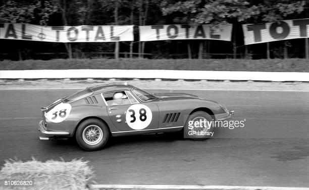 Paul Vestey driving a Ferrari 275GTB/C at Paris 1000Ks Montlhery 6th Overall 1st GT Class