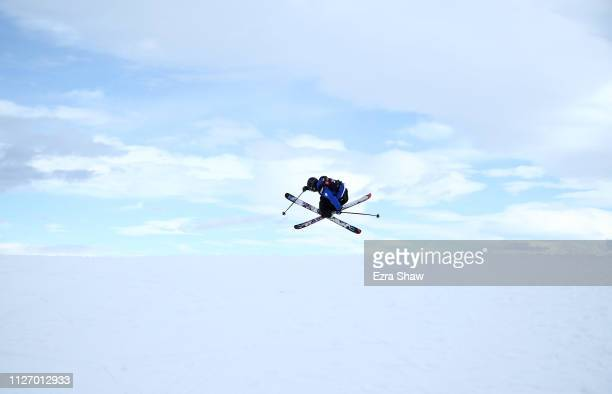 Paul Vieuxtemps of Thailand warms up before the qualification round of the Men's Ski Big Air at the FIS Freeski World Championships on February 02...