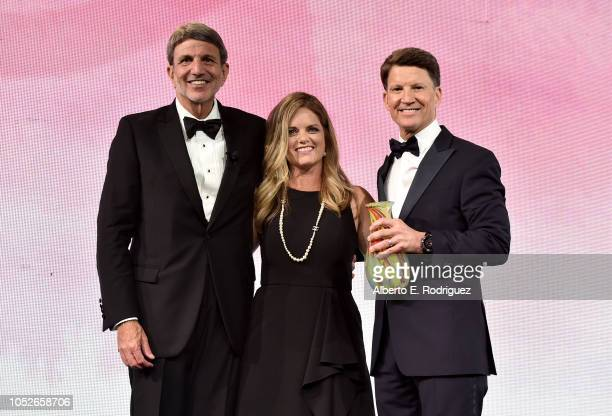 Paul Viviano Jennifer Page and Brian Goldner onstage at the 2018 Children's Hospital Los Angeles 'From Paris With Love' Gala at LA Live on October 20...