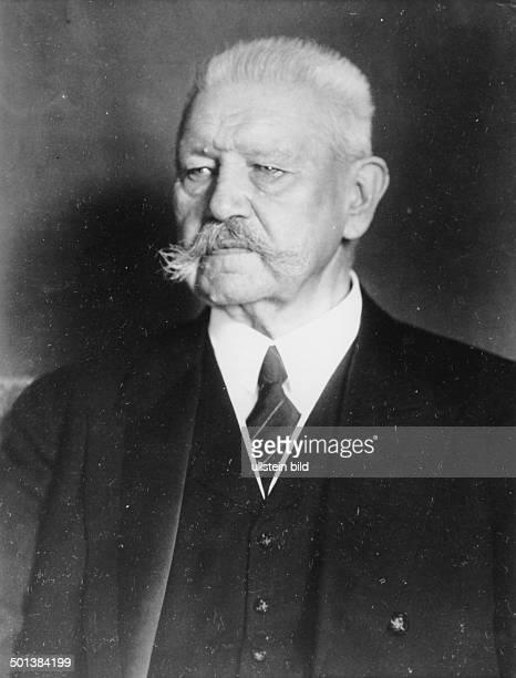 Paul von Hindenburg German field marshal and statesman 2nd President of Gemany 192534 Portrait Photo Kuehlewindt