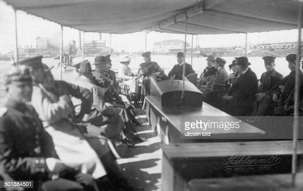 Paul von Hindenburg German field marshal and statesman 2nd President of Gemany 192534 Hindenburg visiting East Prussia on a harbour tour in...