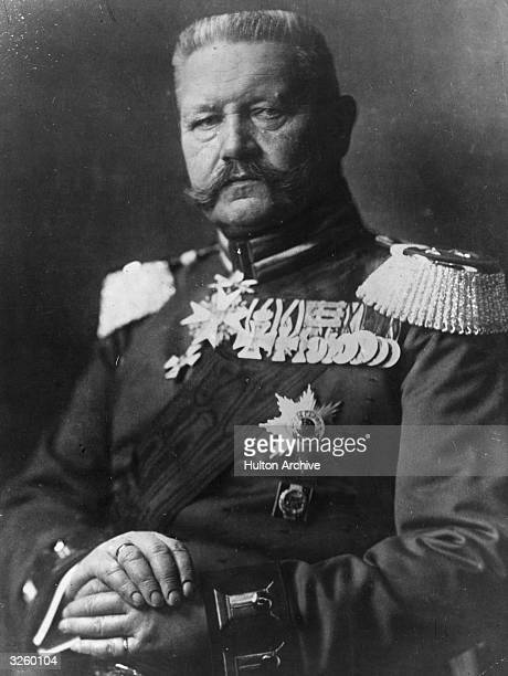 Paul von Hindenburg German soldier statesman and president on his 70th birthday in his uniform as a fieldmarshal