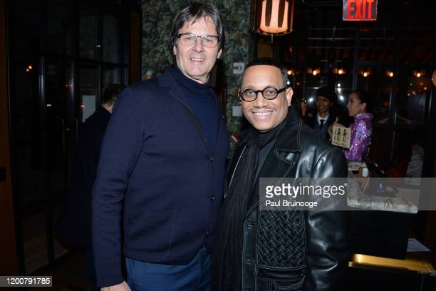 Paul von Ravenstein and Maurice Lynch attend MAC Nordstrom And The CFDA Host The After Party For The Times Of Bill Cunningham at Bistrot Leo on...