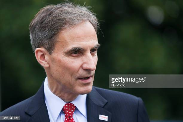 Paul W Jones US Ambassador to the Republic of Poland during the celebration of the 242nd Anniversary of the Independence of the United States of...